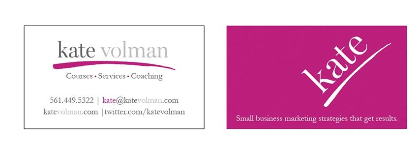 Kate Volman Logo And Business Card Design