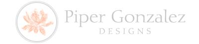 Piper Gonzalez Designs Logo And Website